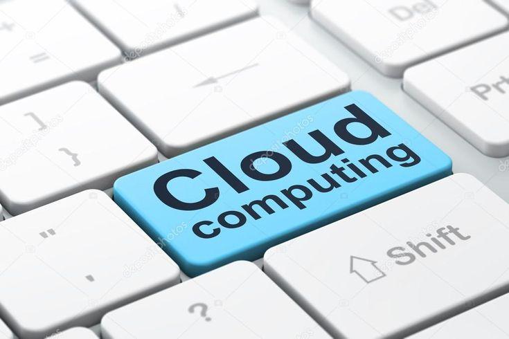 Cloud computing concept cloud computing on computer