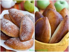 Яблочные пирожки на творожном тесте