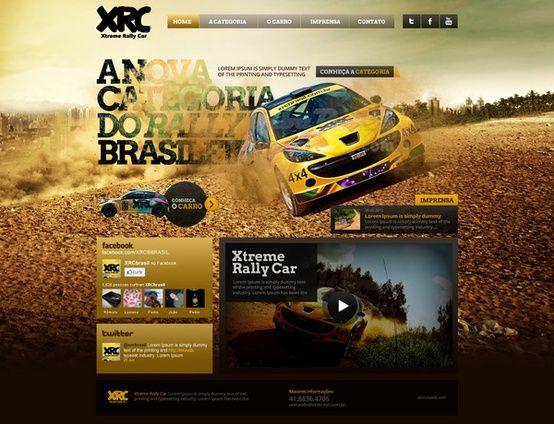 ⊶ Web design ⊶ / XRC Xtreme Rally Car on the Behance Network