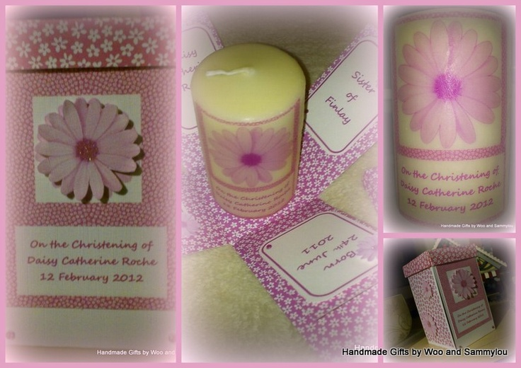 Exploding Box with personalised Candle
