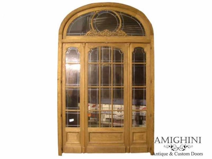 Arch Triple Glazed Hardwood Front Door Transom