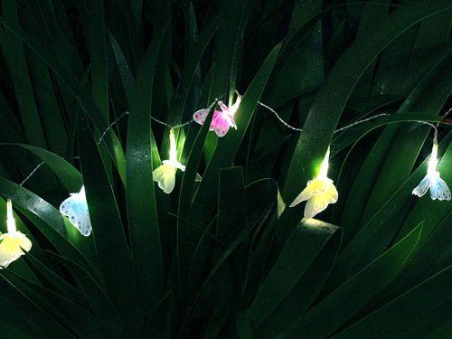 Solar power fibre-optic butterflies