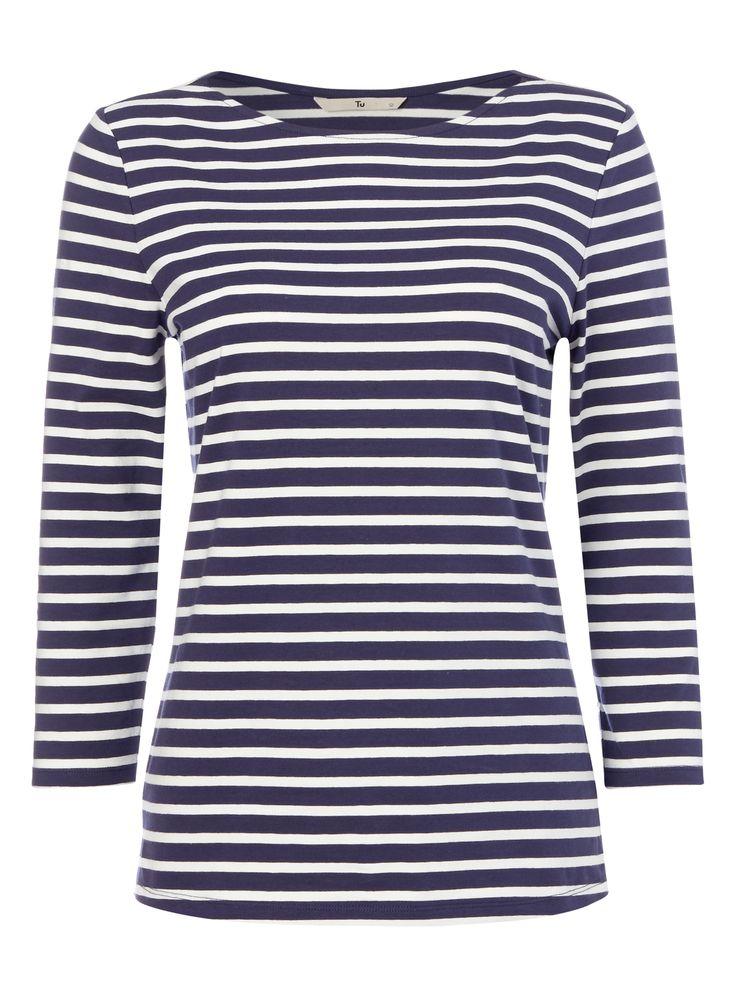 Vintage Brushed Cotton Breton Sweater erm054S