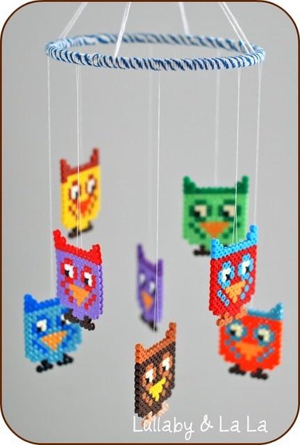 strijkparels - uil - mobiel
