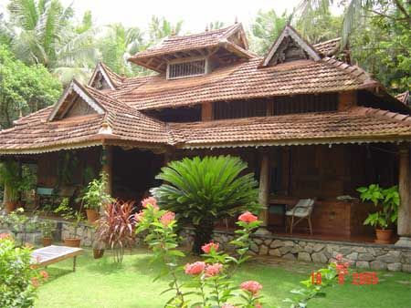 Traditional house in kerala india where you rarely find for Kerala style garden designs