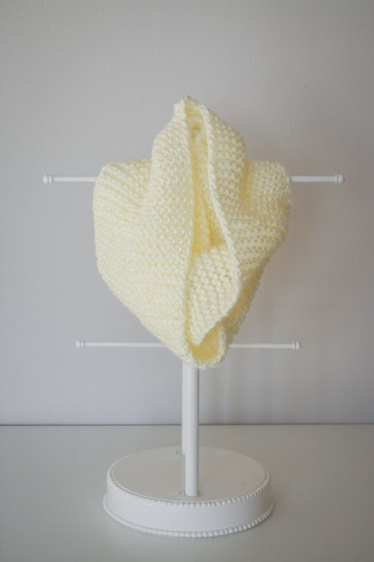 Hand Knit Baby and Toddler Infinity Scarf by HollandandLane on Etsy