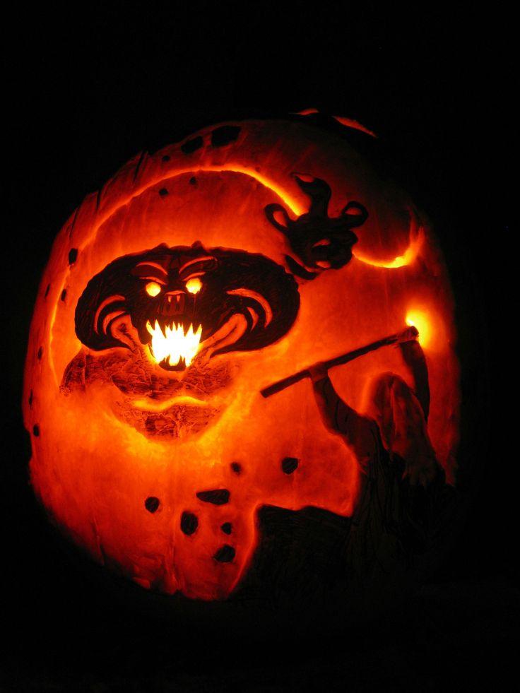 Lotr Balrog Pumpkin Yes Yes I Am A Nerd Pinterest
