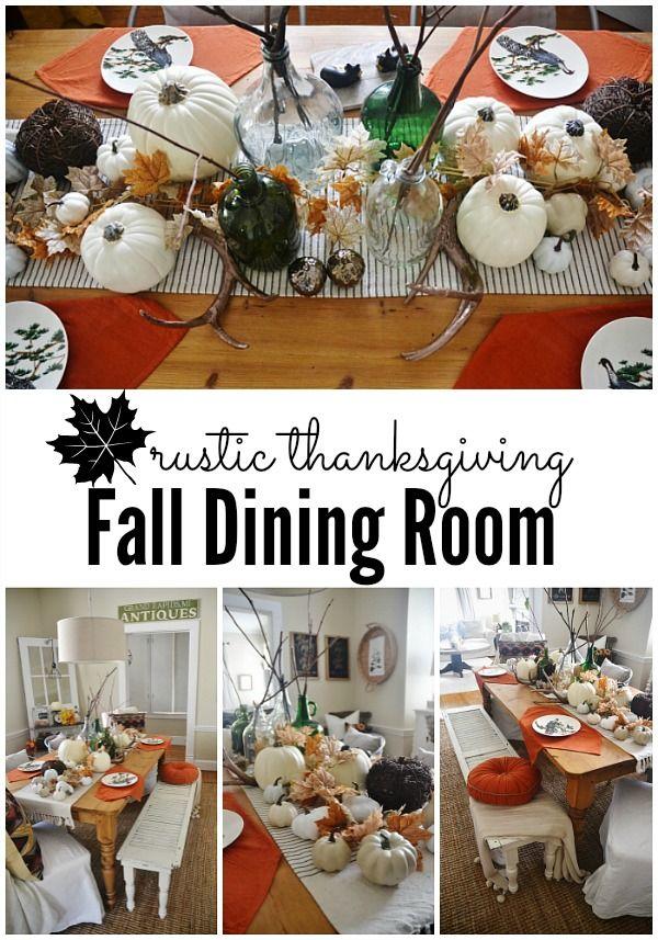 Rustic Thanksgiving Fall Dining Room
