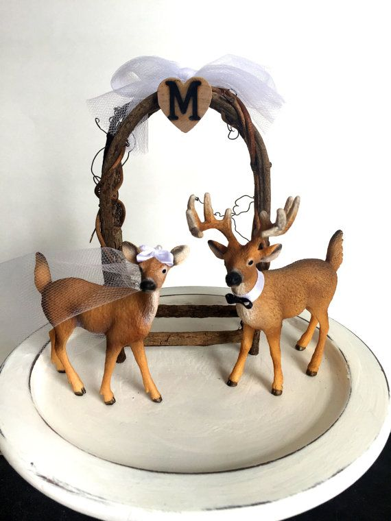 Redneck Cake Topper / Deer Cake Topper / Wedding Cake Topper /