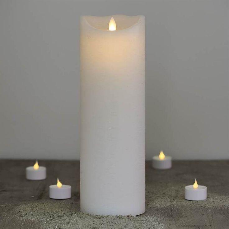 Lumânare cu LED Sara albă 30cm