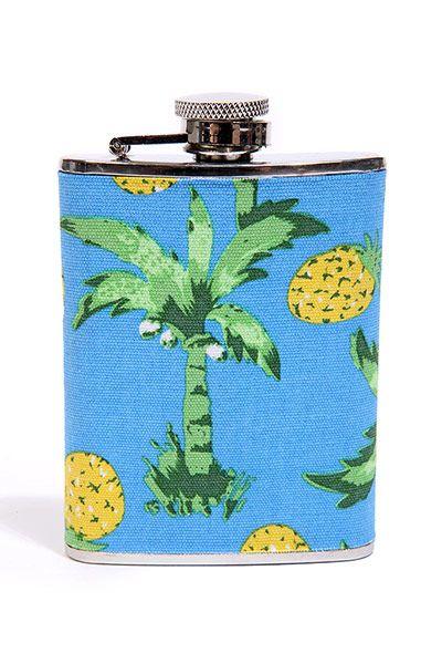 Fashion Wish List: Palm tree pattern hip flask