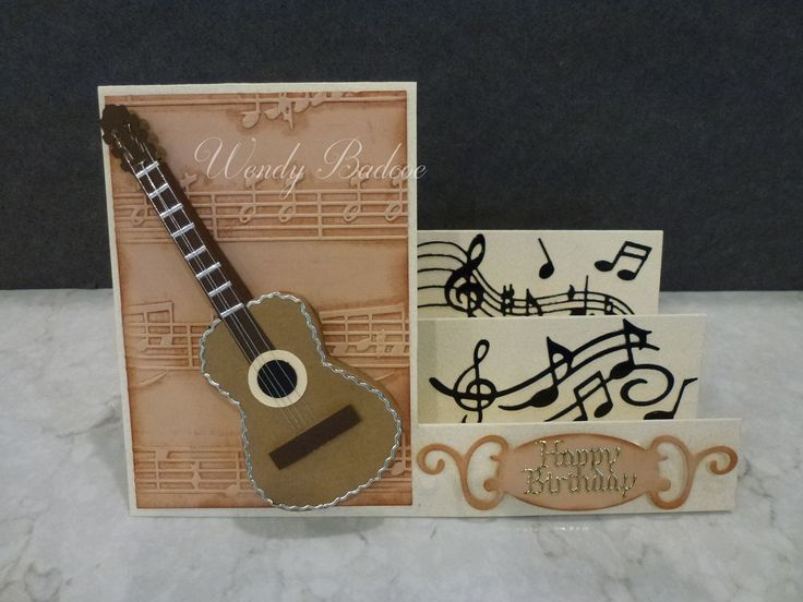Music card using Silhouette Cameo and die cuts