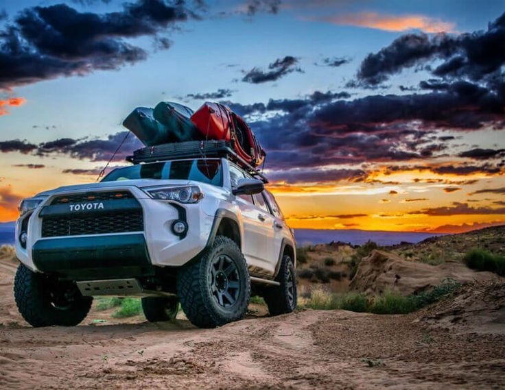 Toyota 4 Runner Overland With Kayak carrier