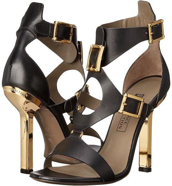 Versace Collection Oro Bizantino Open Toe Heel