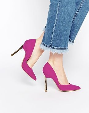 Розовые асимметричные туфли‑лодочки на каблуке New Look Vic
