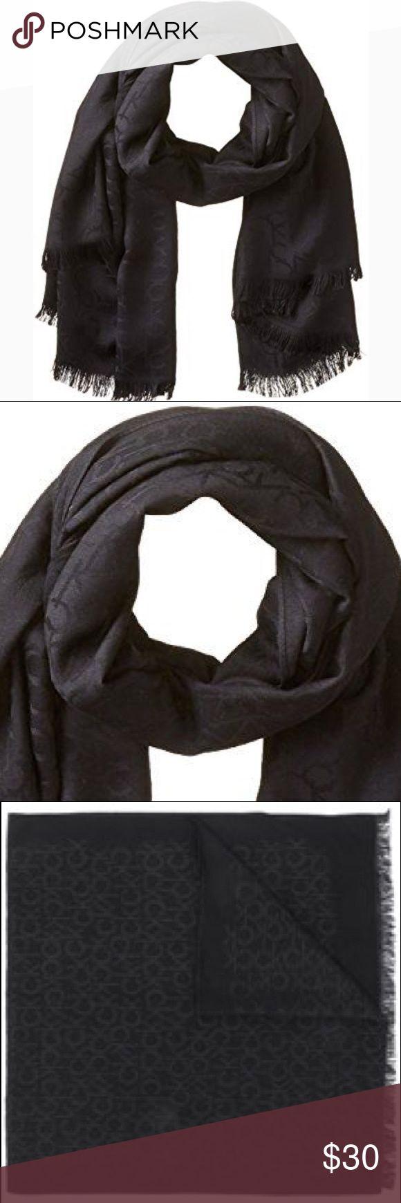 👹Calvin Klein Logo Pashmina Scarf 🧣 Calvin Klein Logo Pashmina Scarf 🧣  Exactly as shown in pics. Soft pashmina scarf with CK logo throughout. Brand new without tags   Happy Poshing - Lizz Calvin Klein Accessories Scarves & Wraps