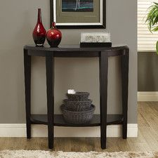 Half Moon Console Table - maybe for the bottom of the basement stairs?