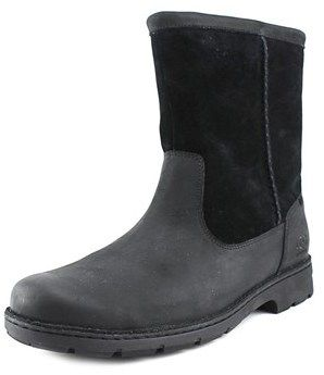 UGG Foerster Men Round Toe Suede Black Snow Boot.