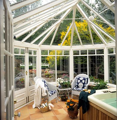 At The Back Of The House Is The Sunroom Where The Hot Tub Is (a