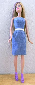 Barbie Blue Dress (free pattern)