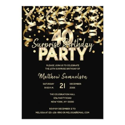 The 25 best 40th birthday invitations ideas – 40th Birthday Invitation Cards