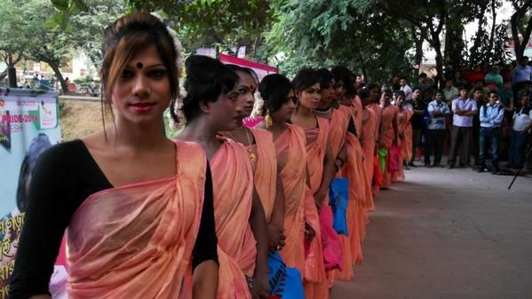 More than 1,000 transgender women staged Bangladesh's first ever pride parade yesterday to mark one year since the government recognized them as a third gender.