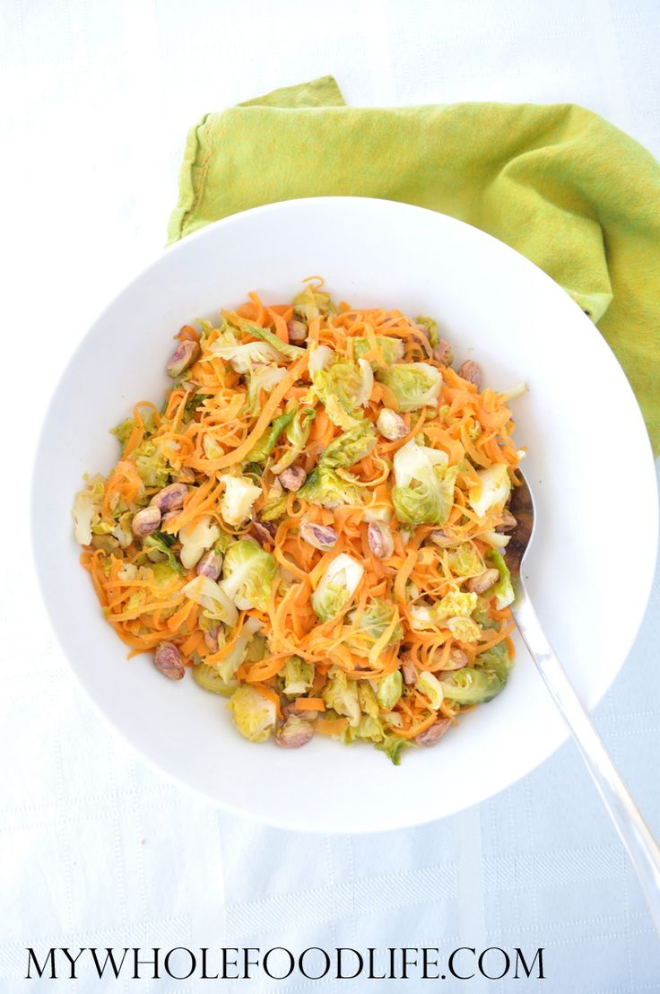 Sweet Potato Pasta with Brussel Sprouts