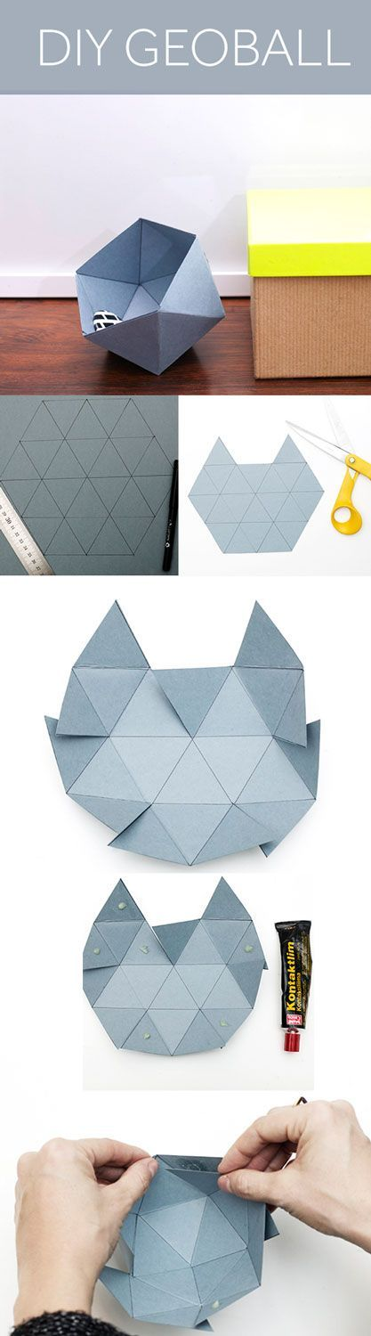 DIY GEOBALL...all you need is cardbord and glue! //Manbo