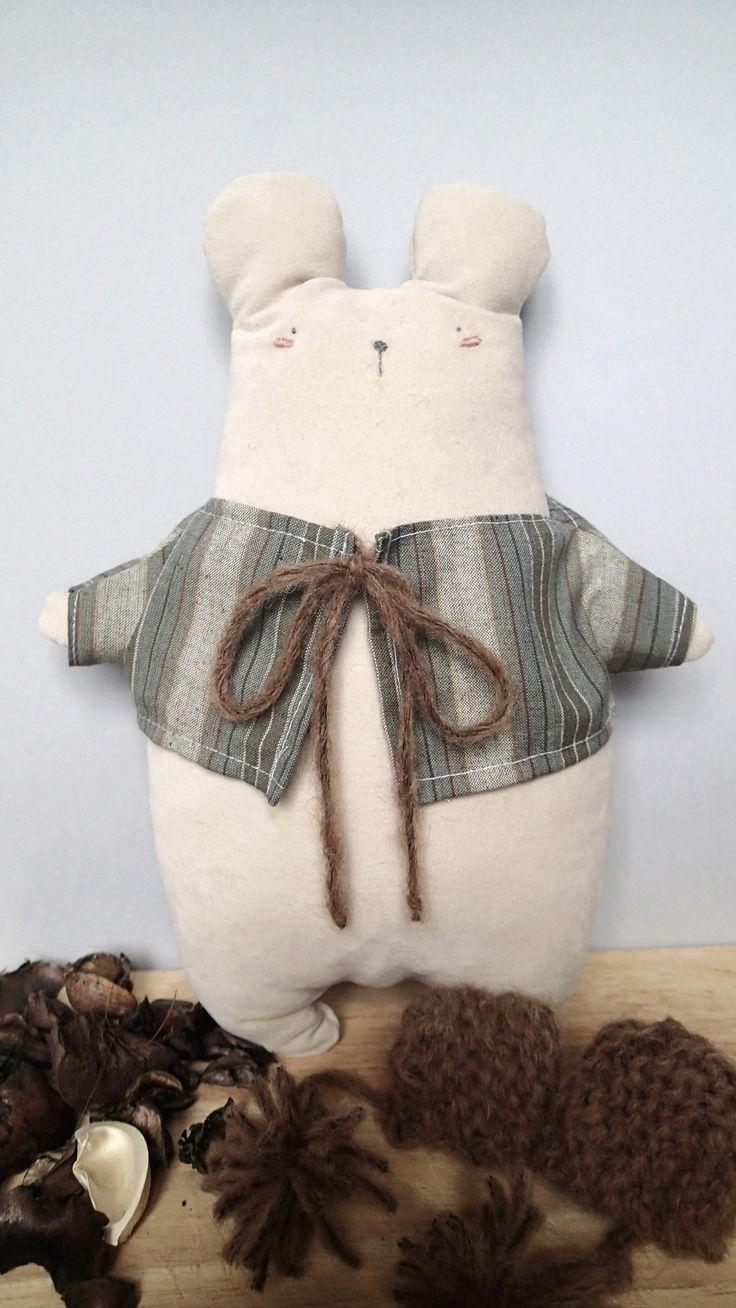 Handmade cuddler form Italy! Adolfo The Bear.