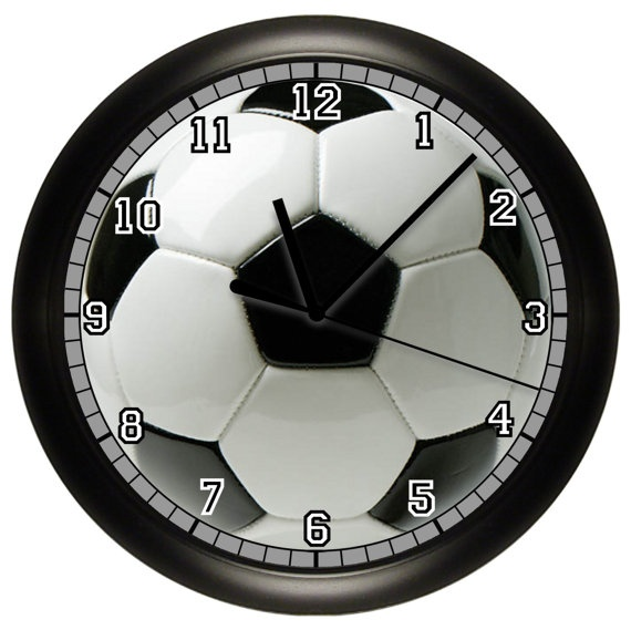 Personalized Soccer Wall Clock Soccer Ball Wall Art by cabgodfrey, $14.99