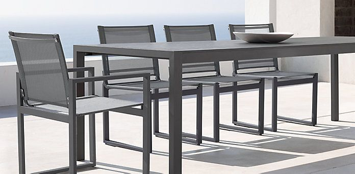 Aegean outdoor collection slate restoration hardware for Restoration hardware outdoor dining
