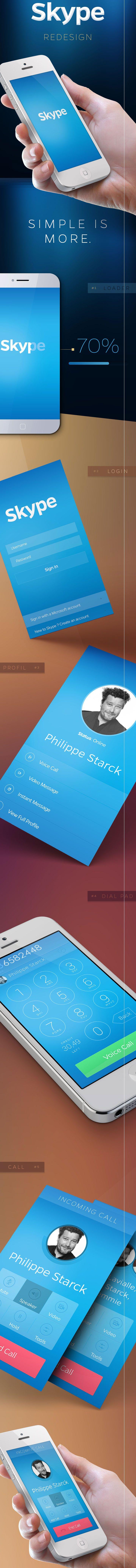Skype iOS7 Redesign