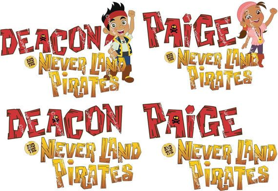 Child's Name in Jake & the Never Land Pirates-Inspired ...
