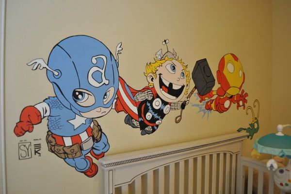 Cute Baby Avengers Vinyl Decals Art Adorable Kids