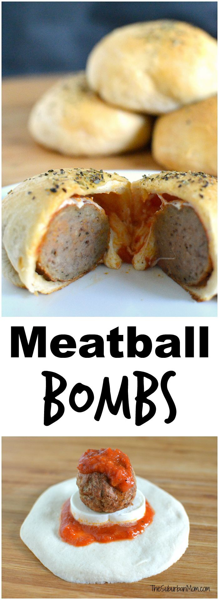Make dinnertime fun by stuffing dinner inside a biscuit. My kids love meatballs, and meatball bombs are our new favorite way to eat meatballs.