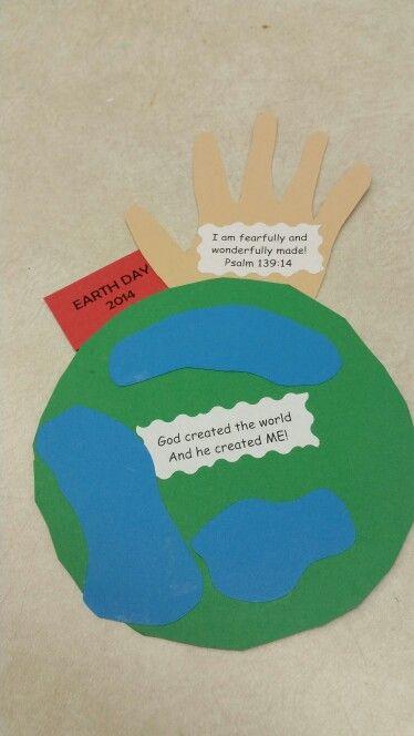 Earth day preschool craft.