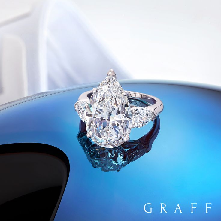 A sparkling companion for the slopes - our 7 carat D Flawless pear shape diamond ring. #graffdiamonds