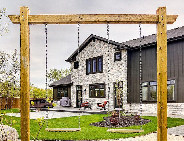 Best 25 backyard swings ideas on pinterest backyard for Diy adult swing set