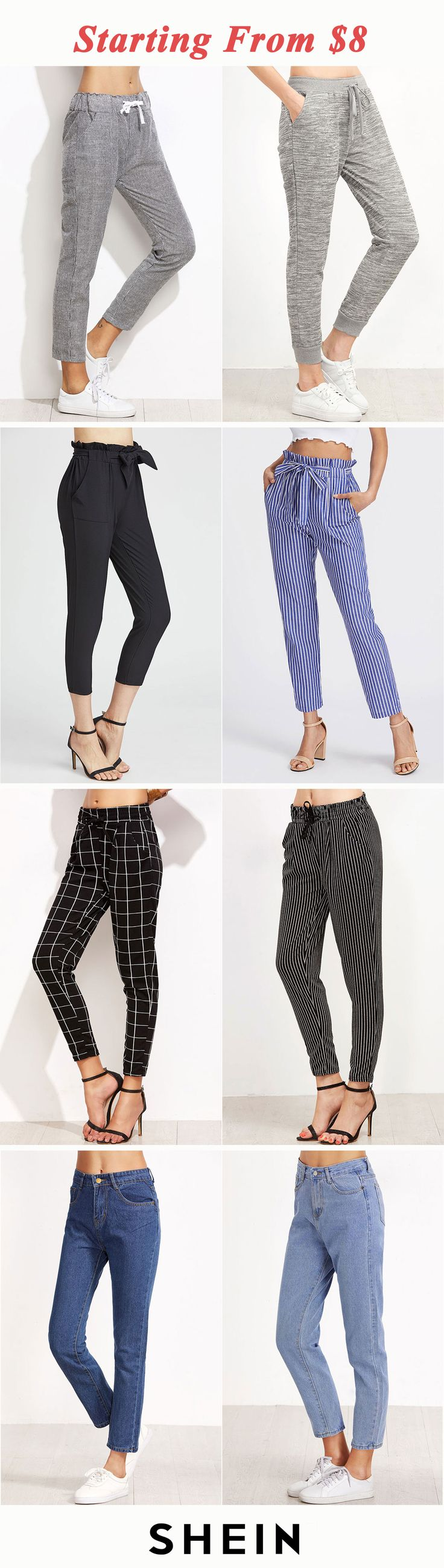 Casual pants & jeans start at $8!
