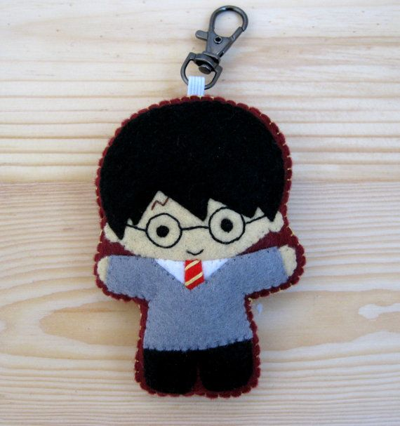 Harry Potter cute plush felt keychain bag charm - Harry Potter mini Akindoll Collection