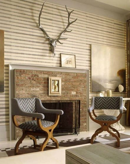 thom filicia is a master of faux taxidermy the antlers here instantly turn the room masculine and rugged