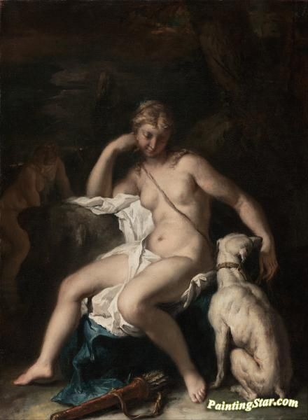 Diana and her dog Artwork by Sebastiano Ricci Hand-painted and Art Prints on canvas for sale,you can custom the size and frame