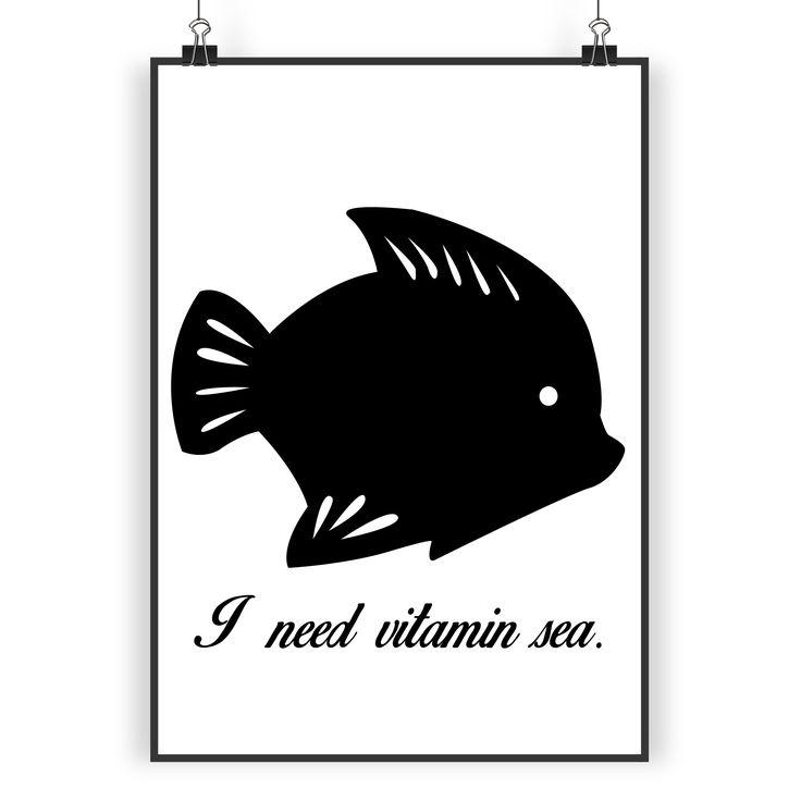 Poster DIN A3 Fisch aus Papier 160 Gramm  weiß - Das Original von Mr. & Mrs. Panda.  Jedes wunderschöne Poster aus dem Hause Mr. & Mrs. Panda ist mit Liebe handgezeichnet und entworfen. Wir liefern es sicher und schnell im Format DIN A3 zu dir nach Hause.    Über unser Motiv Fisch  Da die Welt zu 70 % aus Wasser. Für Meerestiere und Fische der perfekte Ort zu leben. Fische gibt es in alles Größen und Formen, in allen Farben und Vorkommen. In Aquarien kann man die faszinierende…