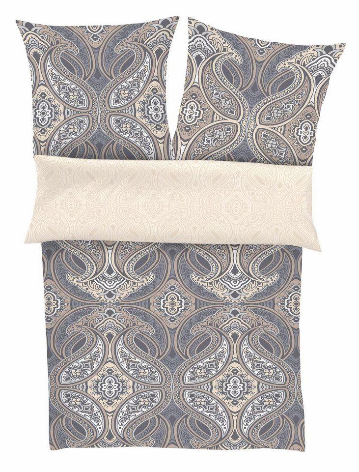 Bettwäsche, Zeitgeist, »Rocki«, mit großen Ornamenten ab 39,99€. Hochwertige Mako-Satin Qualität, Trocknergeeignetes & maschinenwaschbares Material bei OTTO