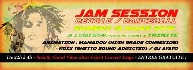 Jam Session (Reggae / Dancehall) Vous aussi intégrez vos événements dans l'Agenda des Sorties de www.bellemartinique.com C'est GRATUIT !  #martinique #Antilles #domtom #outremer #concert #agenda #sortie #soiree