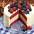 The perfect Canada Day cake becomes the perfect 4th of July cake with the help of blueberries and blackberries...