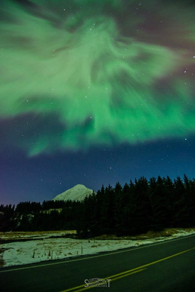 Kodiak Alaska  Northern Lights  Photo by Scott Wight.
