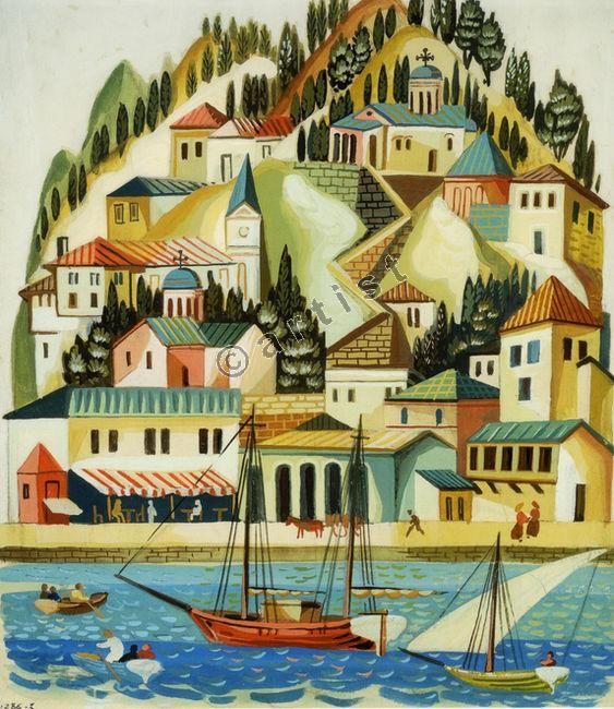 Αγήνωρ Αστεριάδης, Η Παναγιά του Λόφου,1974, υδατογραφία, 22,5 x 27 εκ.
