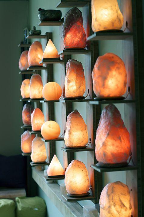Salt lamp wall