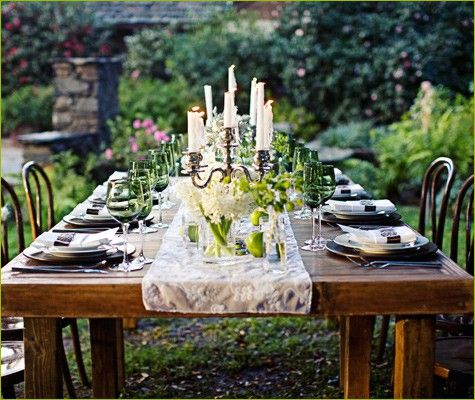 Pretty Table Decorations 31 best outside! set the table outside. images on pinterest